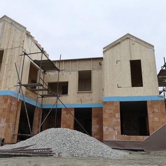 Stavba z CLT panelov - Devin