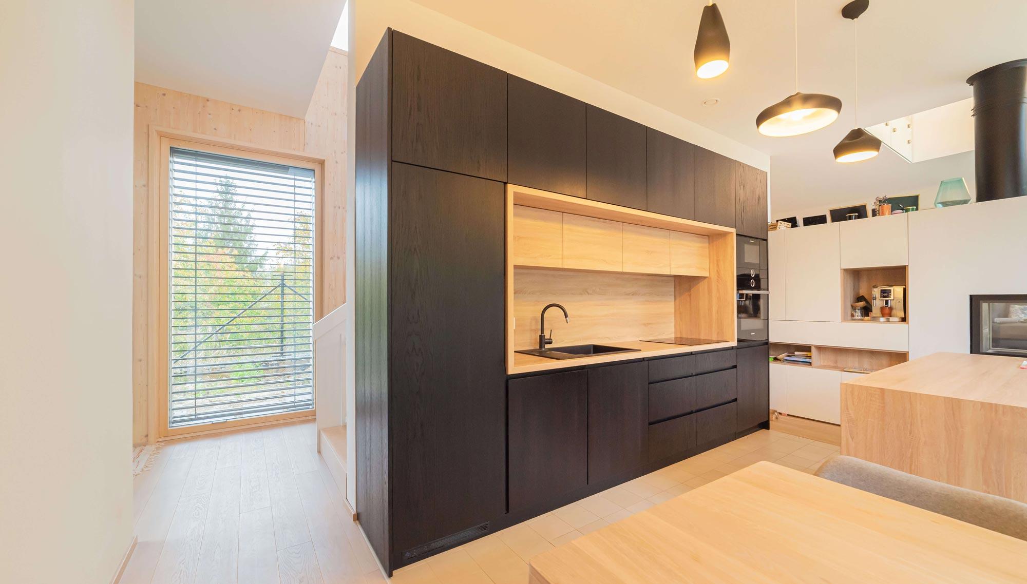 CLT panely drevostavba kuchyna